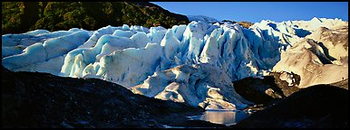 Glacier landscape. Kenai Fjords National Park (Panoramic color)