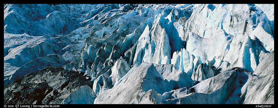 Chaotic ice forms on Exit Glacier. Kenai Fjords National Park (color)