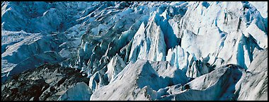 Chaotic ice forms on Exit Glacier. Kenai Fjords National Park (Panoramic color)