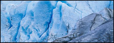 Ice close-up, Exit Glacier. Kenai Fjords National Park (Panoramic color)