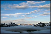 Sea of clouds and Resurection Mountains. Kenai Fjords National Park ( color)