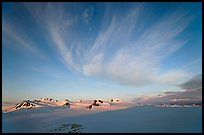 Harding Ice field and clouds, sunrise. Kenai Fjords National Park ( color)