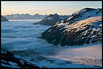 Craggy peaks, glacier, and sea of clouds. Kenai Fjords National Park ( color)