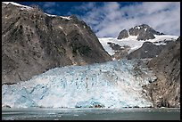 Northwestern tidewater glacier and steep cliffs, Northwestern Fjord. Kenai Fjords National Park ( color)