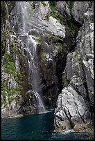Waterfall, Cataract Cove, Northwestern Fjord. Kenai Fjords National Park ( color)