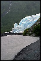 Exit Glacier, glacial outwash plain, and glacial stream, 2002. Kenai Fjords National Park, Alaska, USA.
