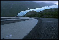 Glacial stream, Exit Glacier and outwash plain. Kenai Fjords National Park, Alaska, USA. (color)