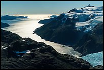 Aerial View of backlit Holgate Arm. Kenai Fjords National Park ( color)