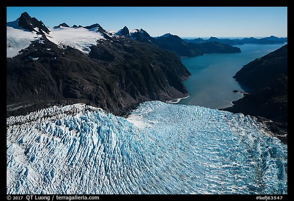 Aerial View of Holgate Glacier and Holgate Arm. Kenai Fjords National Park (color)