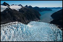 Aerial View of Holgate Glacier and Holgate Arm. Kenai Fjords National Park ( color)