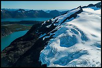 Aerial View of Harding Icefield above Aialik Bay. Kenai Fjords National Park ( color)