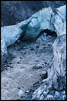 Ice arch and glacial stream, Exit Glacier, 2016. Kenai Fjords National Park ( color)