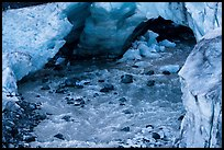 Glacial stream flowing out of ice tunnel, Exit Glacier. Kenai Fjords National Park ( color)