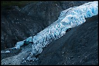Exit Glacier bottom, 2016. Kenai Fjords National Park ( color)