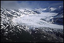 Aerial view of wide glacier near Lake Clark Pass. Lake Clark National Park ( color)