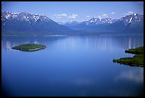 Aerial view of Lake Clark. Lake Clark National Park ( color)