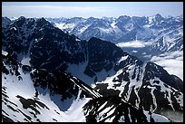Aerial view of ridges, Chigmit Mountains. Lake Clark National Park ( color)