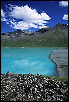East end of Turquoise Lake. Lake Clark National Park ( color)