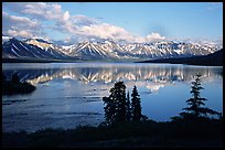Twin Lakes, evening. Lake Clark National Park ( color)