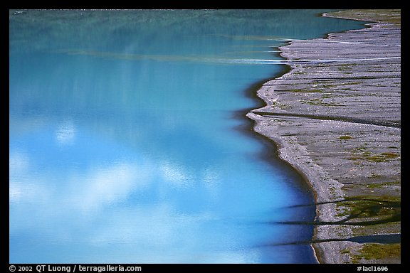 Turquoise Lake and gravel bar. Lake Clark National Park, Alaska, USA.