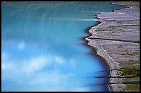 Turquoise Lake and gravel bar. Lake Clark National Park ( color)