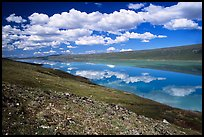 Turquoise Lake and clouds. Lake Clark National Park ( color)
