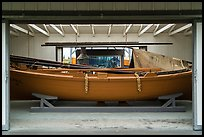 Building housing historic fishing boat from Bristol Bay. Lake Clark National Park ( color)