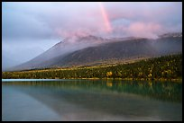 Rainbow above Kontrashibuna Lake. Lake Clark National Park ( color)