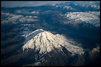 Aerial view of Redoubt Volcano. Lake Clark National Park ( color)