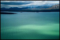 Aerial view of light and shadows on Lake Clark. Lake Clark National Park ( color)