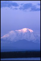 Last light on the summit of Mt Blackburn. Wrangell-St Elias National Park ( color)
