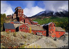 Kennicott historic copper mine. Wrangell-St Elias National Park, Alaska, USA.