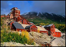 Kennecott abandonned mining buildings. Wrangell-St Elias National Park ( color)