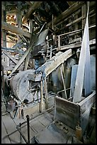 Grinder inside the Kennecott mill plant. Wrangell-St Elias National Park, Alaska, USA. (color)