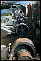Machinery in the Kennecott concentration plant. Wrangell-St Elias National Park, Alaska, USA. (color)