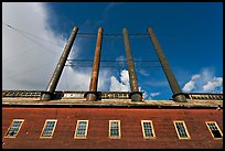 Historic Kennecott power plant and smokestacks. Wrangell-St Elias National Park, Alaska, USA. (color)