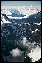 Aerial view of steep rock mountain faces. Wrangell-St Elias National Park ( color)
