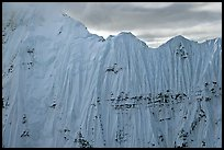 Aerial view of ice wall, University Range. Wrangell-St Elias National Park ( color)