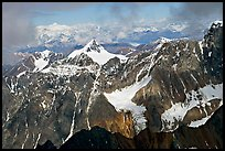 Aerial view of rocky peaks, University Range. Wrangell-St Elias National Park ( color)