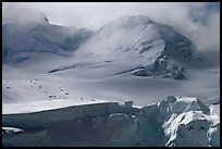 Aerial view of seracs and snowy peak, University Range. Wrangell-St Elias National Park ( color)