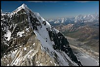 Aerial view of ice-covered peak, University Range. Wrangell-St Elias National Park ( color)