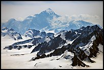 Aerial view of Mount St Elias. Wrangell-St Elias National Park ( color)