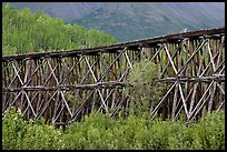 Section of Gilahina trestle constructed in 1911. Wrangell-St Elias National Park ( color)