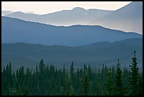 Distant mountain ridges. Wrangell-St Elias National Park ( color)