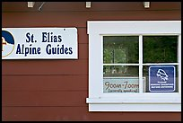 Mountain guide office with interesting signs. Wrangell-St Elias National Park ( color)