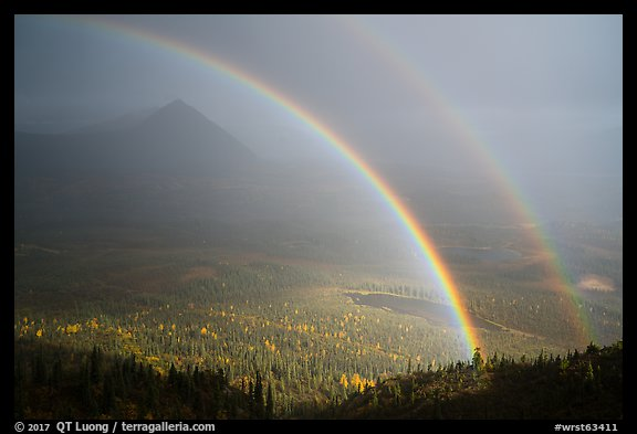 Double rainbow, Devils Mountain. Wrangell-St Elias National Park (color)