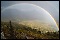 Double rainbow, Nabesna River Valley. Wrangell-St Elias National Park ( color)