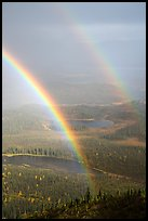 Double rainbow over valley with lakes. Wrangell-St Elias National Park ( color)