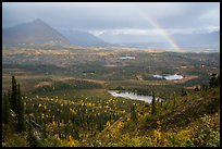 Devils Mountain, Nabesna River Valley, distant rainbow. Wrangell-St Elias National Park ( color)