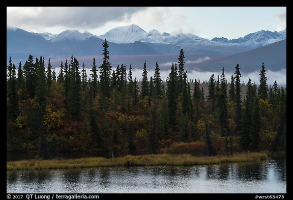 Rock Lake and Wrangell mountains. Wrangell-St Elias National Park (color)